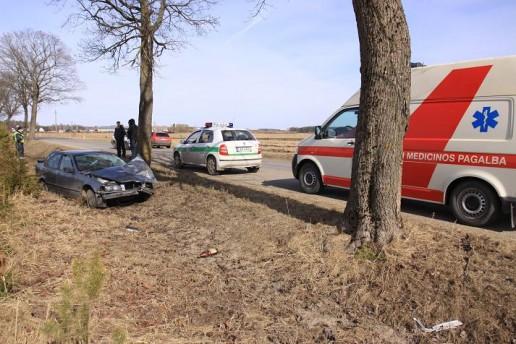 Automobilį vairavo teisių neturėjęs vietos gyventojas, kuris į alkotesterį įpūtė 2.53 promilės. Nuotrauka Rolando Žalgevičiaus