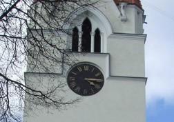 Šilutėje, evangelikų liuteronų bažnyčios laikrodis