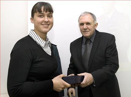 Geriausia 2010 metų policijos sportininkė šilutiškė Eglė Vaitkutė