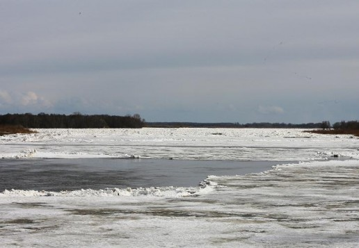 Ledų sangrūda ties Rusnės sala