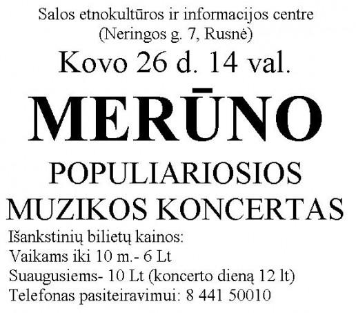 Merūno koncertas Rusnėje