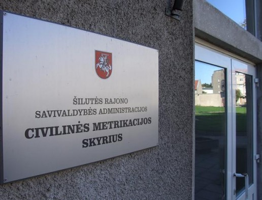 iluts civilins metrikacijos skyrius