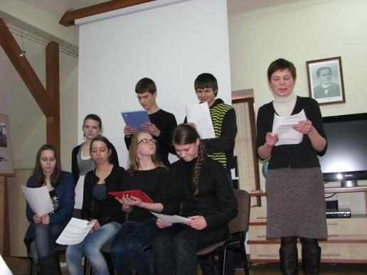 Šilutės Vydūno gimnazijos mokinių kūrybos diena bibliotekoje