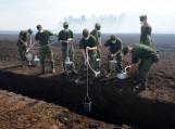 Su gaisru kovoja 60 kariuomenės kareivių