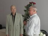Su garbingu 80-ties metų jubiliejumi pasveikintas ilgametis sporto vadovas – Juozas Grigonis (kairėje)