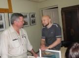 Pirmą etnografinės ekspedicijos dieną į muziejų užsuko šilutiškis Viktoras Bučius