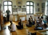 Šilutės Vydūno gimnazijos gimnazistės plenere Bitėnuose