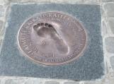 Pradėtoje kurti olimpiečių alėjoje pirmoji plokštė