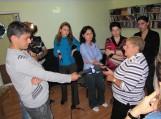 Šilutiškiai duoda interviu Gori televizijai