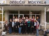 Lietuvos, Turkijos, Ispanijos, Čekijos ir Slovėnijos mokytojai, susitikimo dalyviai. Nuotraukos Degučių pagrindinės mokyklos