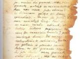 """Aušrininko Jurgio Mikšo laiško Martynui Jankui fragmentas. 1884 m. sausio 8 d. (Reprodukcija iš knygos """"Auszros"""" archyvas"""")."""