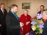 Socialinės paramos skyriaus vedėjas Alvidas Šimelionis sveikino Zenoną Bagdoną