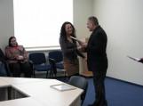Pagėgių rinktinės Ikiteisminio tyrimo skyriaus tyrėjai Vilmai Valackaitei suteiktas vidaus tarnybosleitenantės laipsnis