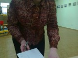 """Violeta Astrauskienė Gardamo bibliotekoje pristatė savo fotoparodą ,,Švėkšnos grafai Pliateriai"""""""