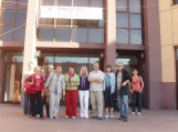 Konferencijos BIBLIO 2012 dalyviai, kartu su darbo grupės moderatoriais, Transilvanijos universitetas