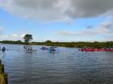 Nemuno deltos regioniniame parke vyko pirmasis baidarių maratonas. Nuotraukos Edvardo Lukošiaus