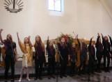 Gardamo pagrindinės mokyklos ansamblio pasirodymas.