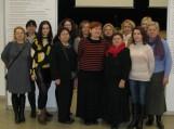 Šilutiškiai bibliotekininkai kartu su žodynų redaktore Rita Urniežiūte