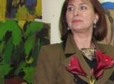 Šilutės rajono savivaldybės kancelerijos vedėja Dana Junutienė tapybos plenero parodos atidaryme