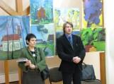 Tapybos plenero vadovė Violeta Jusionienė ir plenero dalyvis dailininkas Simas Žaltauskas. Nuotraukos Dalios Vasiliauskytės