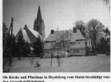Šilutės M. Liuterio evangelikų liuteronų bažnyčia (pašventinta 1926 11 10) su klebonija prieš II pasaulinį karą