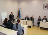 Jaunimo reikalų taryba rinkosį į antrąjį posėdį. Nuotrauka Šilutės r. savivaldybės