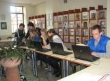Bibliotekoje šilutiškiai mokėsi dirbti kompiuteriu
