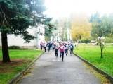 Solidarumo bėgimo akcijoje dalyvavo beveik visa Traksėdžių pagrindinė mokykla