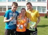 Estafetė 3x100m III vieta. D. Fabijanavičius, G. Stanišauskaitė, E. Dulkys