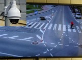 Vaizdo kamera užfiksavo pirmąjį pažeidėją (dviračiu važiuoti pėsčiųjų perėja draudžiama). Nuotraukos Edvardo Lukošiaus