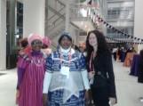Su delegatėmis iš Nigerijos