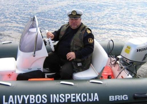 Eugenijus Macijauskas. Nuotrauka Saugios laivybos inspekcijos tinklaraščio