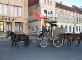 """Istorinis žygis žirgais žemaitukais  """"Žemė-žmogus-žirgas""""aplink Lietuvą pasiekė Šilutę. Nuotraukos Edvardo Lukošiaus"""