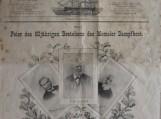"""1899 m. Liepos 3 d. """"Memeler Dampfboot"""" numeris, skirtas dienraščio 50-mečio jubiliejui. Nuotraukos bibliotekos"""