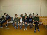 Gardamo progimnazijos penktokai su klasės vadove Justina Aukštuolyte