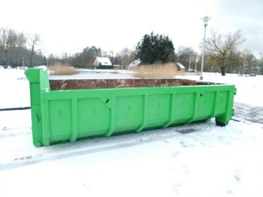 Atliekų konteineris. Nuotrauka Gintaro Radzevičiaus