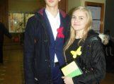Renginį šauniai vedė trečiokai Rokas Birbalas ir Kamilė Kinderytė