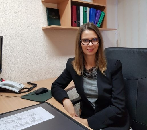 Teisėja Lina Nainienė. Nuotrauka Šilutės apylinkės teismo