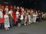 """4 - 2020-08-07 - Konferencija pradėta tylos minute pagerbiant amžinybėn išėjusį doc. dr. Vaclovą Bagdonavičių ir sugiedant Vydūno draugijos himną """"Lietuvių giesmė"""""""