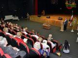5 - 2020-08-07 - Sveikinimo žodį susirinkusiesiems taria Pagėgių Šv. Kryžiaus parapijos klebonas Kazys Žutautas.