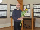 """Bibliotekoje – Egidijaus Vidrinsko paroda """"Piešiniai iš bloknoto"""""""