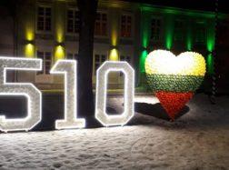 Prie Šilutės dvaro – Šilutės 510 metines simbolizuojantys skaičiai