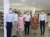 Vydūno viešojoje bibliotekoje svečiavosi Kultūros ministras Simonas Kairys su komanda