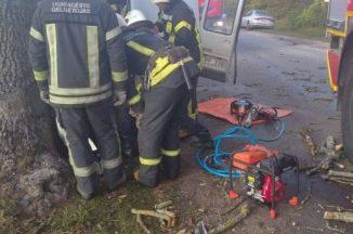 Mikroautobuso smūgis į medį prie Šilutės: vairuotojas žuvo vietoje