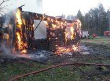 Juškaičiuose gaisre žuvo moteris