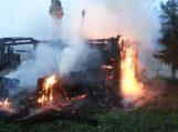 Bajėnuose gaisre žuvo vyras