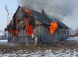 Paleičiuose nudegė namas