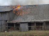 Traksėdžiuose degė vaikų padegtas ūkinis pastatas