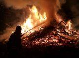 Rusnės saloje padegtos šakos ant kojų sukėlė ugniagesius ir pasieniečius