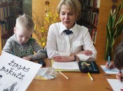 Traksėdžių ikimokyklinukai  – meno terapijos renginio dalyviai